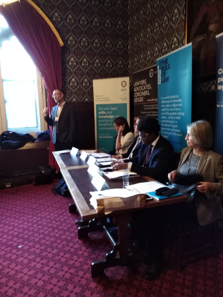 Young Citizens CEO, Tom Franklin, speaking at the launch in Parliament